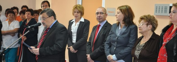 Prof. Zlatkov, Minister of healt dr. Konstantinov, Mayor of Sofia