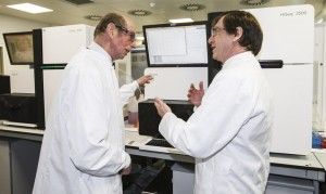 His Royal Highness Prince Edward in the lab